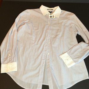 NEW With Tags GAP White Collar Cuff Button Down 14